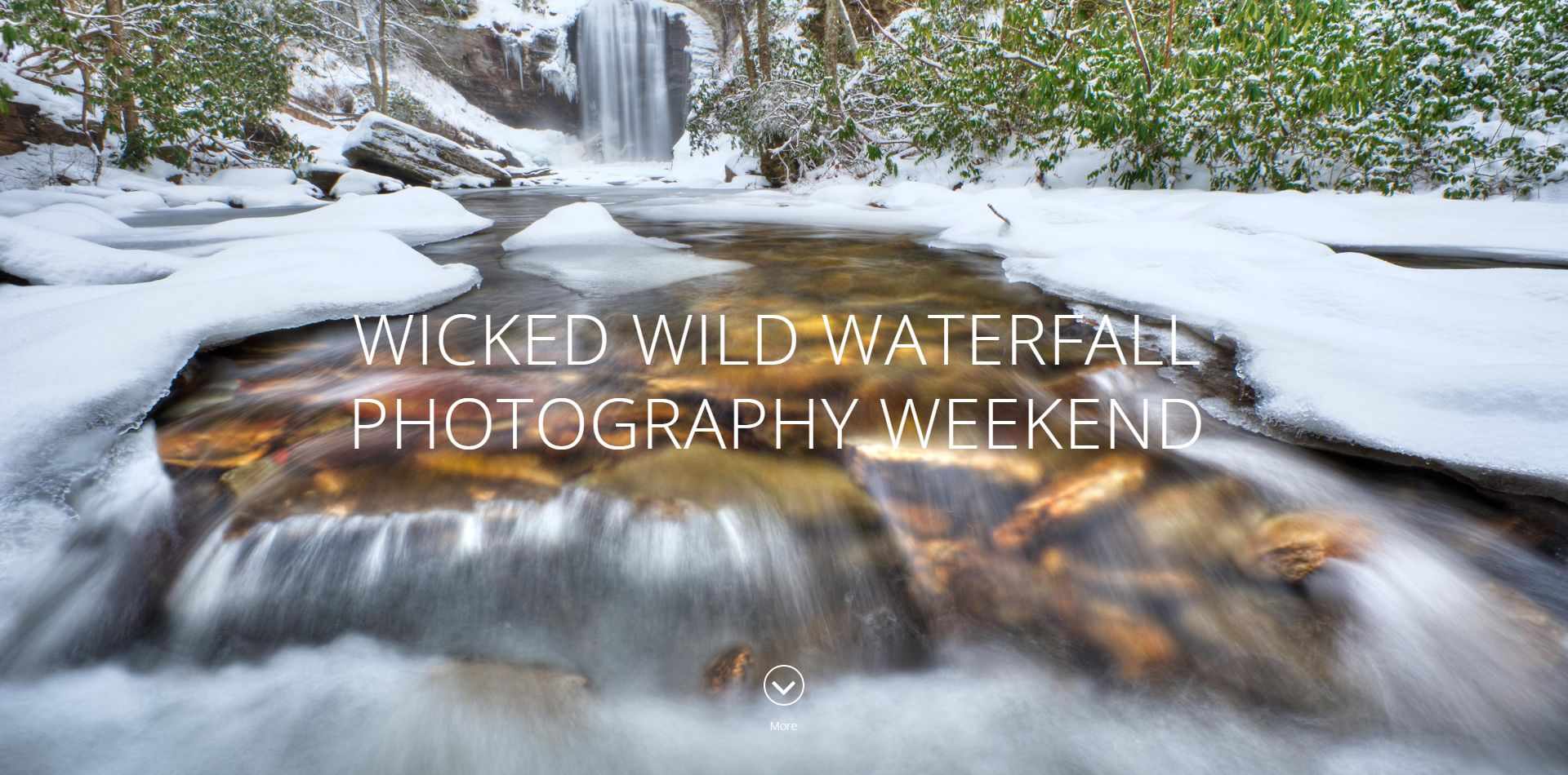 Home Page for Waterfall Photography Weekend